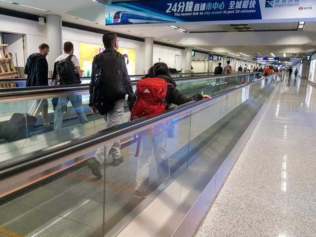 Hong Kong airport is huge