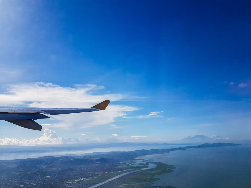 View of Philippines from the aircraft