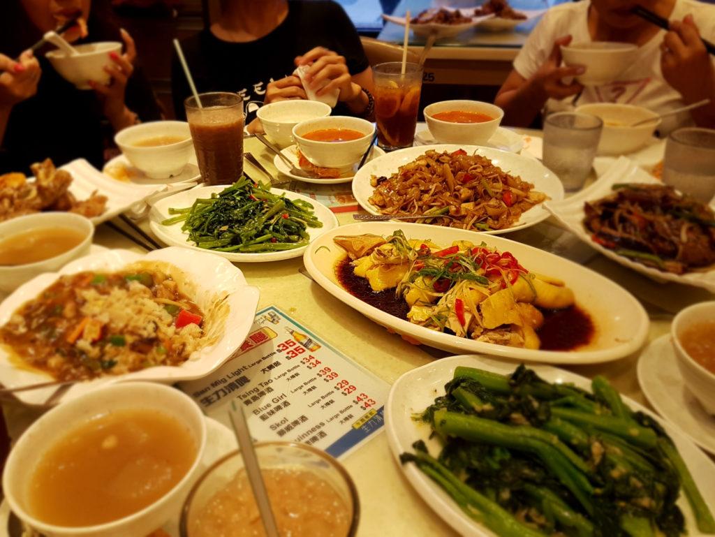Dinner in Hong Kong