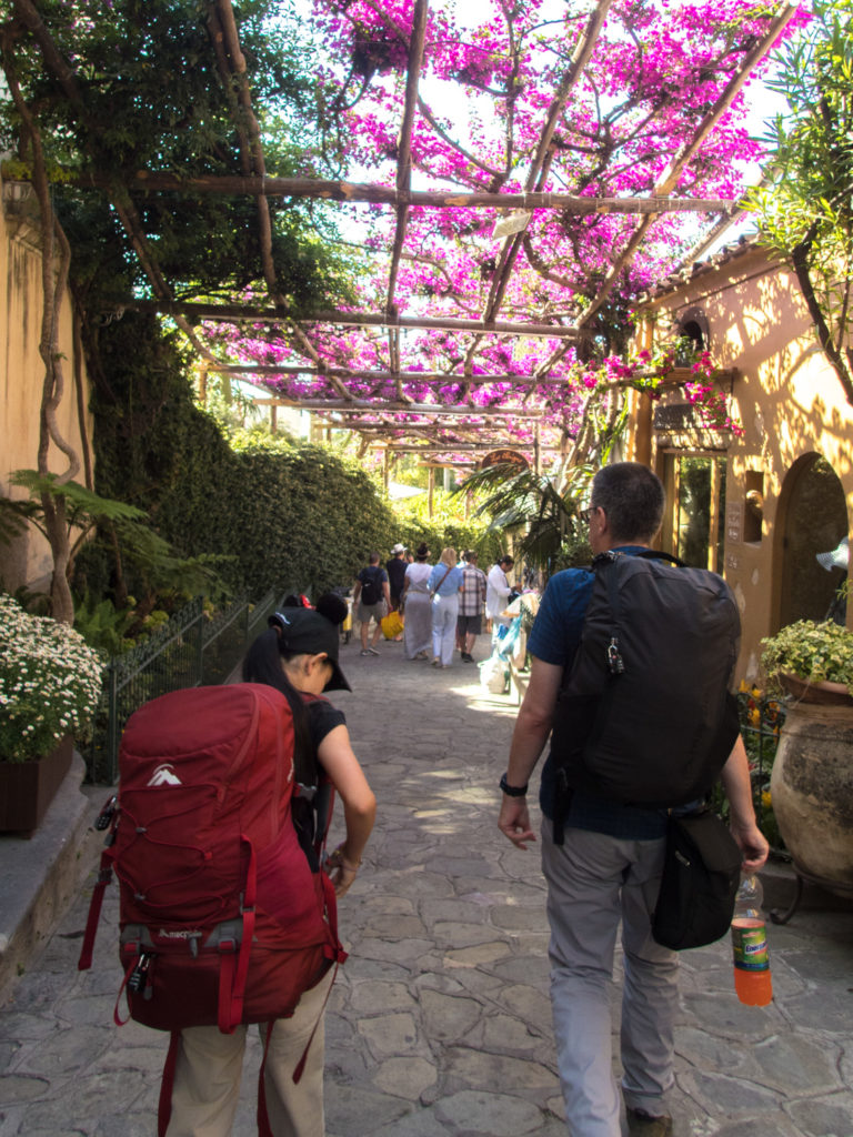 Walking the alleyways in Positano