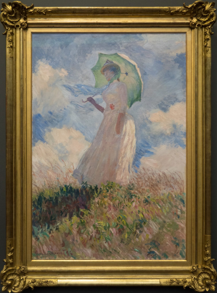 Monet - Woman with an Umbrella turned towards the left