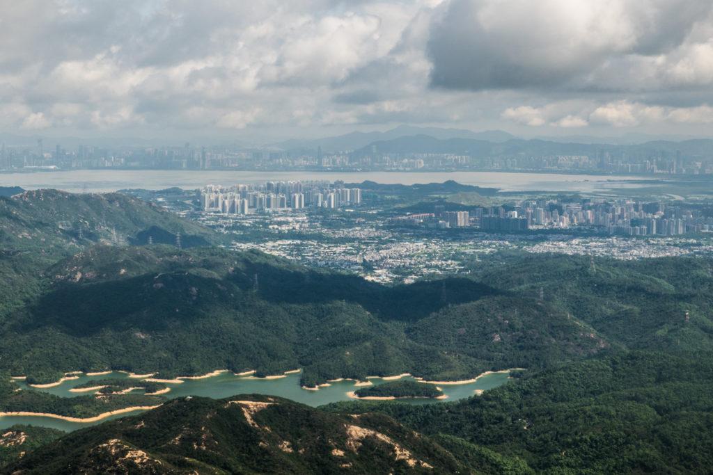 View of Hong Kong from the aircraft