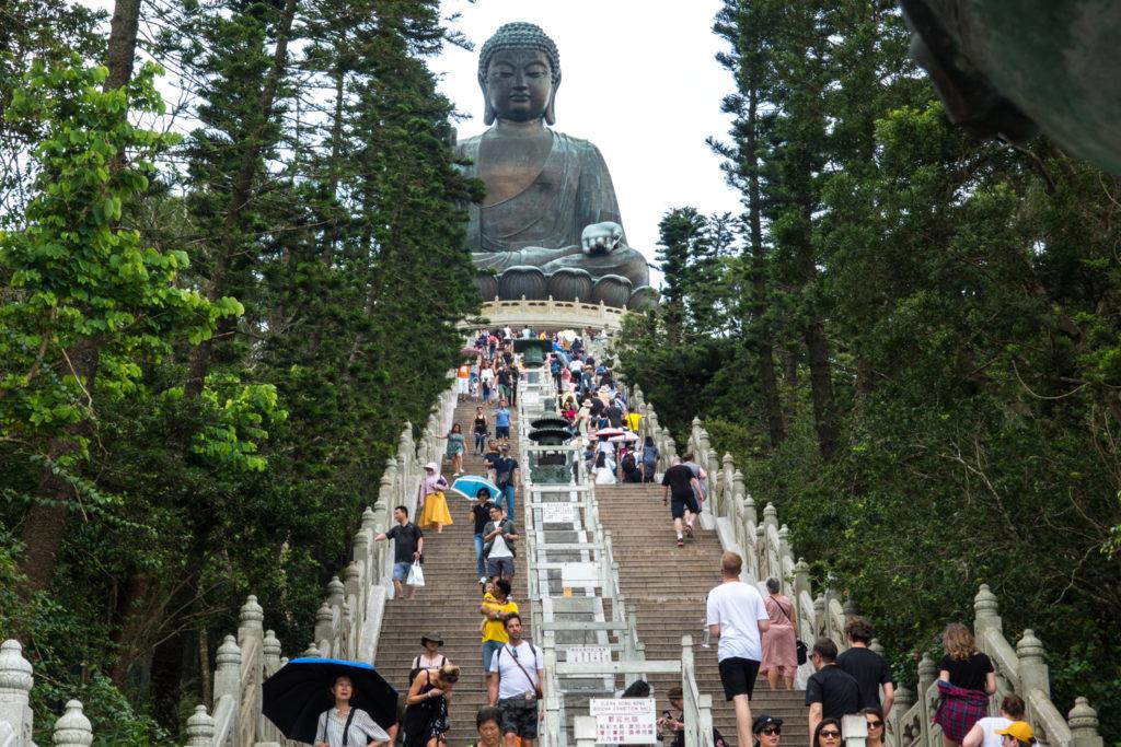 Looking up at the Big Buddha
