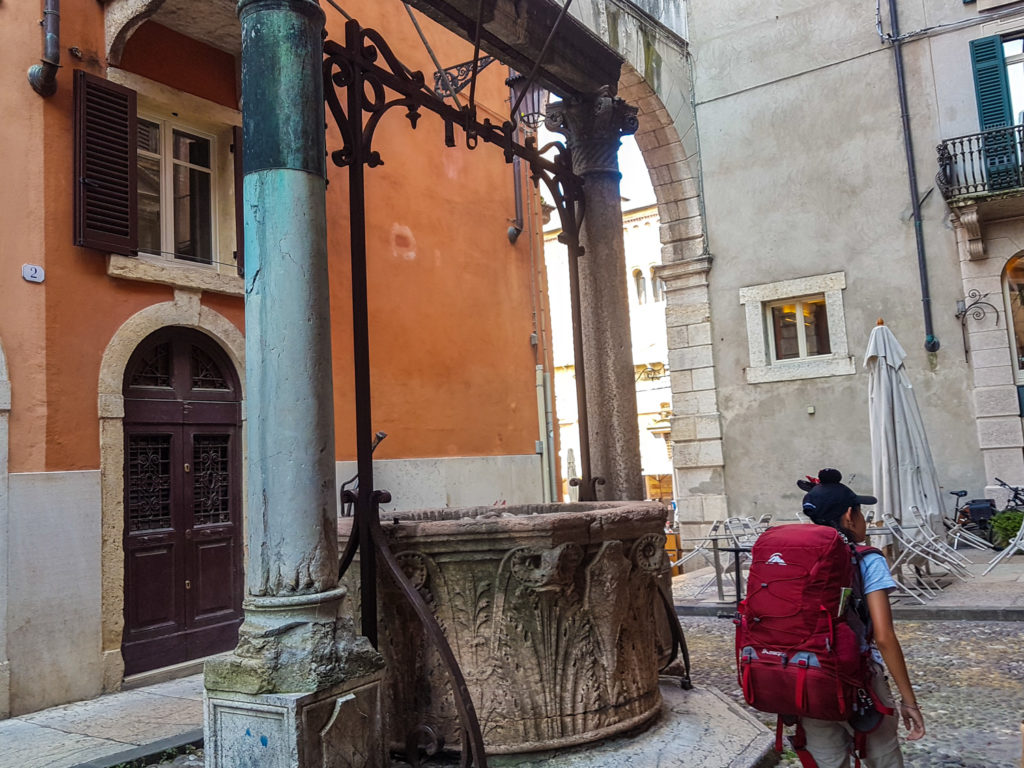 Ancient Well outside Corte Realdi Suites
